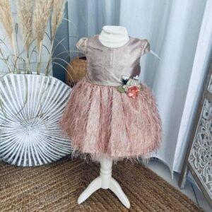 robe de noël pink gold 2 à 6 ans