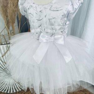 Robe Sissi blanche 2 à 6 ans