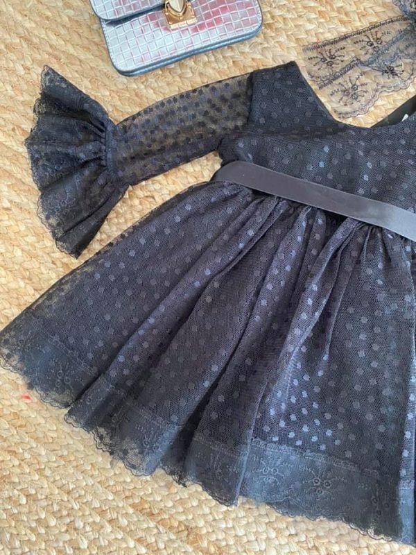 robe dentelle fête noire