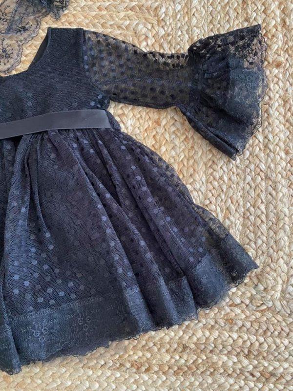 robe fête enfant noir