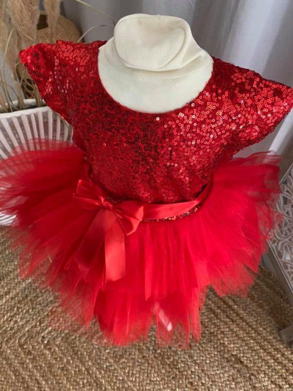 robe de fête jade rouge