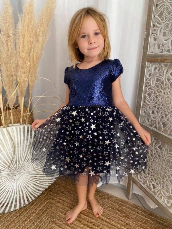 robe étoile bleuté noël 2 à 6 ans