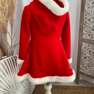 dos robe rouge noël