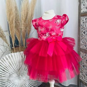 robe sissi flowers fushia 2 à 6 ans