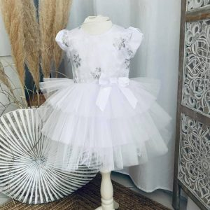 robe sissi flowers blanche 2 à 6 ans