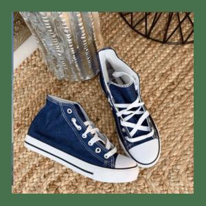 basket-haute-toile-enduite-bleu-jeans-36-à-41
