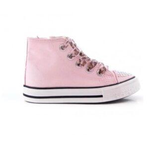 baskets-hautes-strass-rose-fille