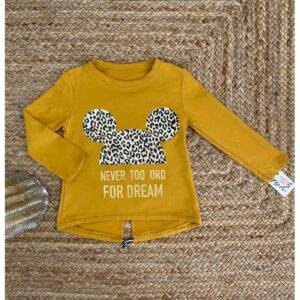 sweat-minnie-léopard-4-à-14-ans-moutarde
