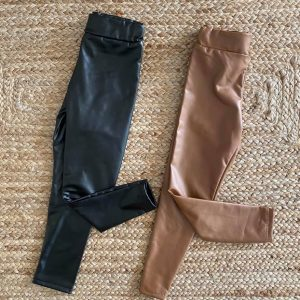 jegging thermo simili cuir uni 4 à 14 ans