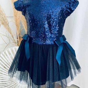 robe zoé blau marine 2 à 5 ans