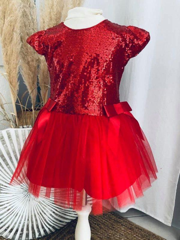 robe zoé noël rouge 2 à 5 ans