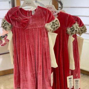 robe mistinguette léopard groseille