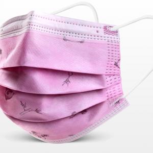 masque jetable enfant modèle panda rose