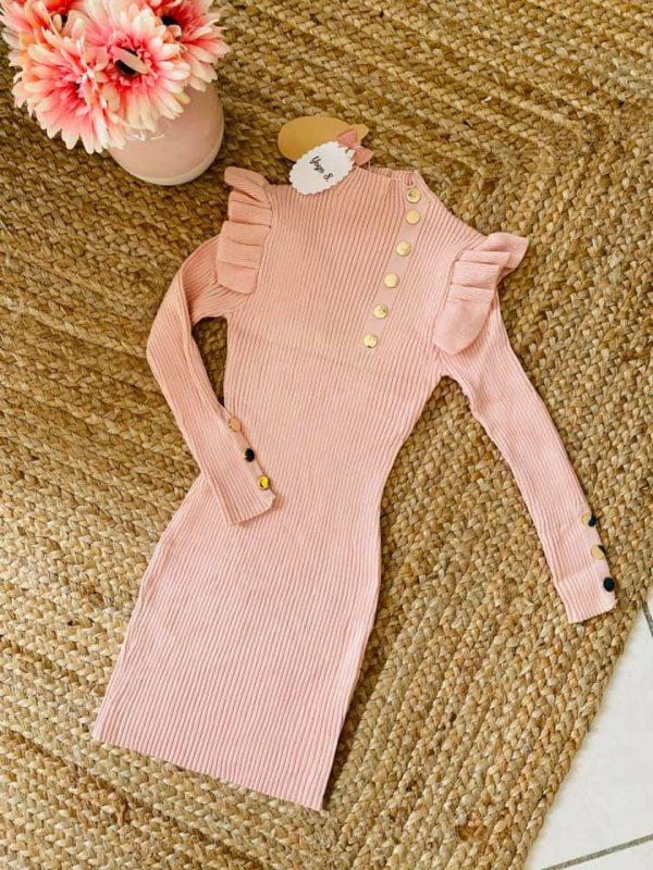 robe rose élégante