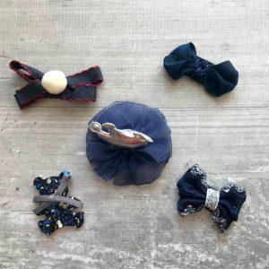 Lot 5 barrettes magiques ourson bleu